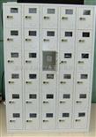 50门手机柜有机玻璃手机柜,充电式手机柜,一卡通手机柜