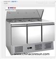 三門風冷不銹鋼冷藏保鮮沙拉臺|S903