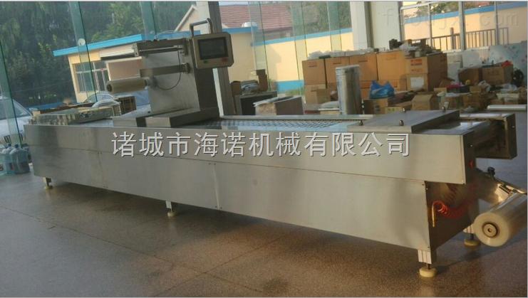 320厂家推荐鲜玉米全自动拉伸膜食品真空包装机