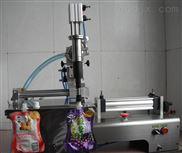 半自动带嘴自立袋灌装机-果汁饮料灌装机-鲜奶灌装机