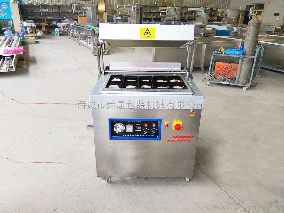 DZT760-D和牛肉牛排真空贴体包装机